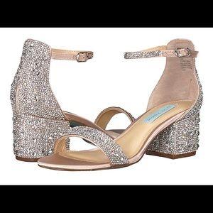 Betsey Johnson Mari Sandal - Size 9 - Champagne
